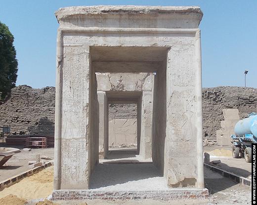 Albast Kapel van Amenhotep I bij de Karnak Tempel.