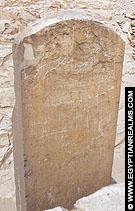 Stele in dodentempel van de Meidum piramide.
