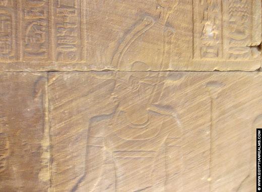 Relief van Keizer Augustus op de Kalabsha Tempel.