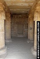 In de Nekhebet Tempel te El-Kab.