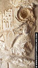 Relief van een Baviaan in de kleine kapel van El-Kab.