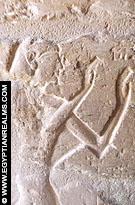 Relief in de kleine kapel van El-Kab.