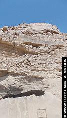 Rotsen het terrein van El-Kab.