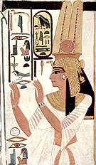 Voorstelling van koningin Nefertari afkomstig uit haar tombe.