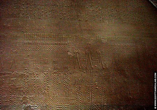 Prachtige reliefs in de tombe van Mereruka bij Saqqara.