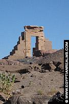 Restant van de Tempel van Khnum in Aswan.