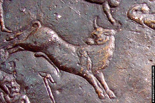 Sterrenbeeld Stier uit de oud-Egyptische Zodiak.