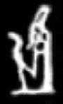 Hieroglyph Amun.