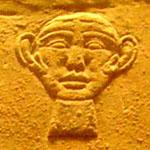 Oud-Egyptisch hieroglief van het gezicht.