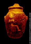Oud-Egyptisch amulet van het hart.