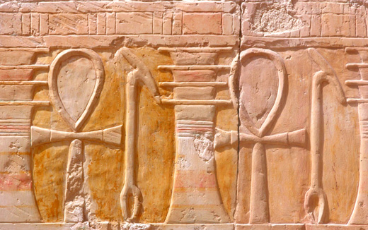 Ancient Egyptian relief of the Ankh.