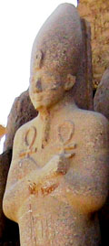Statue of Farao inside the Karnak Temple.
