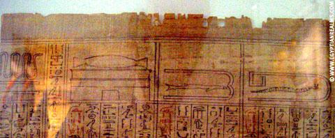 Papyrus met afbeelding van de slang.