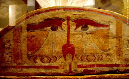 Voorstelling op een sarcofaag.