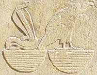 Hieroglief van Nekhebet en Uadjet.