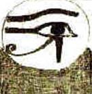 Het oud Egyptische linkeroog van Ra.