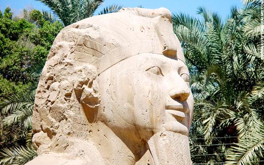 Gezicht van de Sphinx.