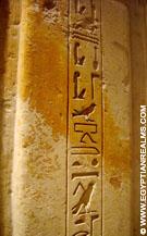 Egyptische Djed pilaar voorzien van hierogliefen.