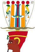 Illustratie van oud-Egyptische kroon.