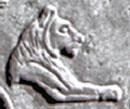 Egyptisch hieroglief van een Leeuw.