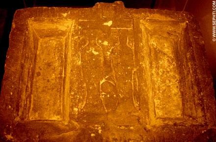 Oud-Egyptische offertafel.
