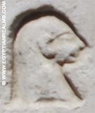 Oud Egyptisch hieroglief van het hoofd.