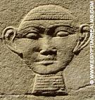 Oud-Egyptisch hieroglief van menselijk hoofd.