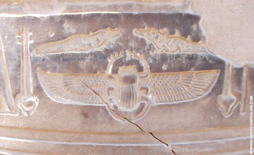 Oud-Egyptisch hieroglief van de scarabee.