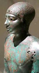 Bronzen beeld van Farao Pepi I.