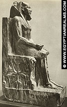 Beeld van farao Chephren.