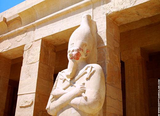 Beeld van een Pharaoh.