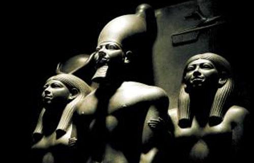 Beeld van Pharaoh Menkaure.