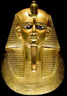 Gouden dodenmasker van Pharaoh Psusennes I.