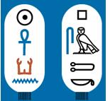 Cartouche van farao Psamtek III.