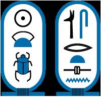Cartouche van farao Sesostris II.