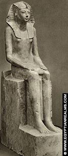 Beeld van Farao Hatjepsut.
