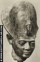 Hoofd van farao Ramses II.
