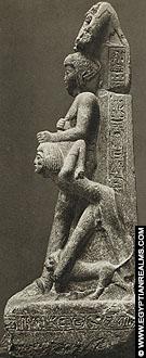 Beeld van farao Ramses VI.