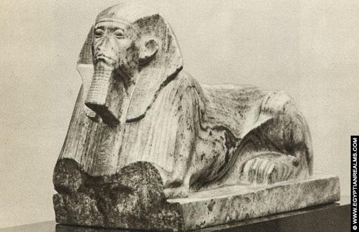 Sphinx beeld van farao Senuseret III.