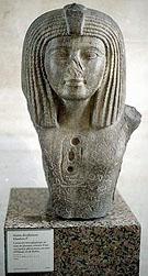 Fragment van een beeld van Osorkon I.