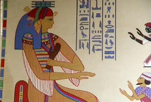 Oud-Egyptische voorstelling in de zoo van Antwerpen.
