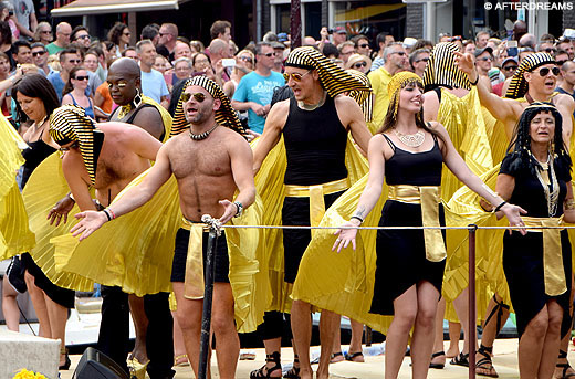 Egyptenaren op de Canal Parade Amsterdam 2014. Copyright Afterdreams.