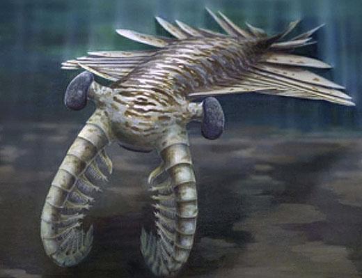 Impressie van het zeemonster van 48 miljoen jaar oud.