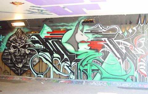 Graffiti van farao.