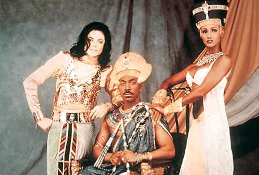 Michael Jackson met Eddy Murphy en Koningin uit de de video clip.