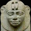 Sphinx beeld van Pharaoh Taharqa.