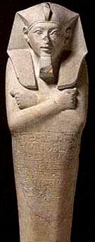 Beeld van farao Ahmose I.