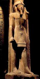 Beeld van farao Seti II.
