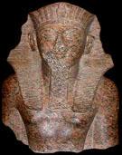 Fragment van beeld van farao Thutmoses IV.