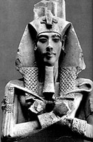Beeld van Pharaoh Akhenaten.